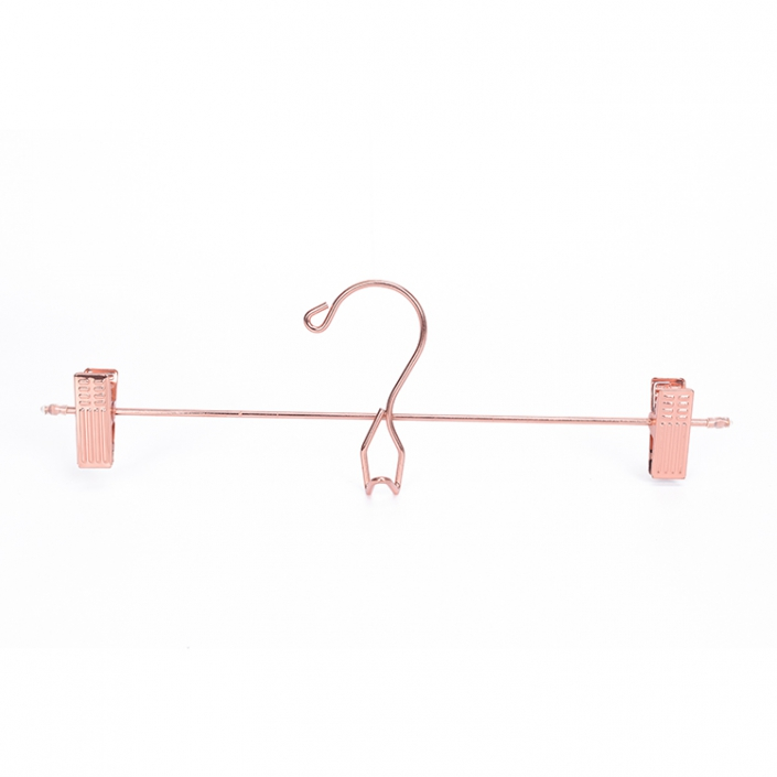 Economy fashion pink gold bottom hanger with clips for underpants display (2)