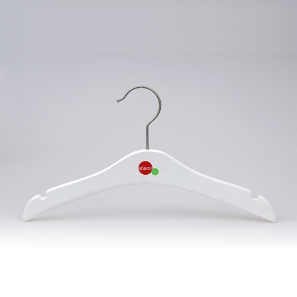 Matte White Wooden Children's Cloth Hanger