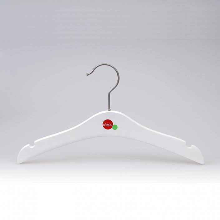 Matte White Wooden Children's Cloth Hanger